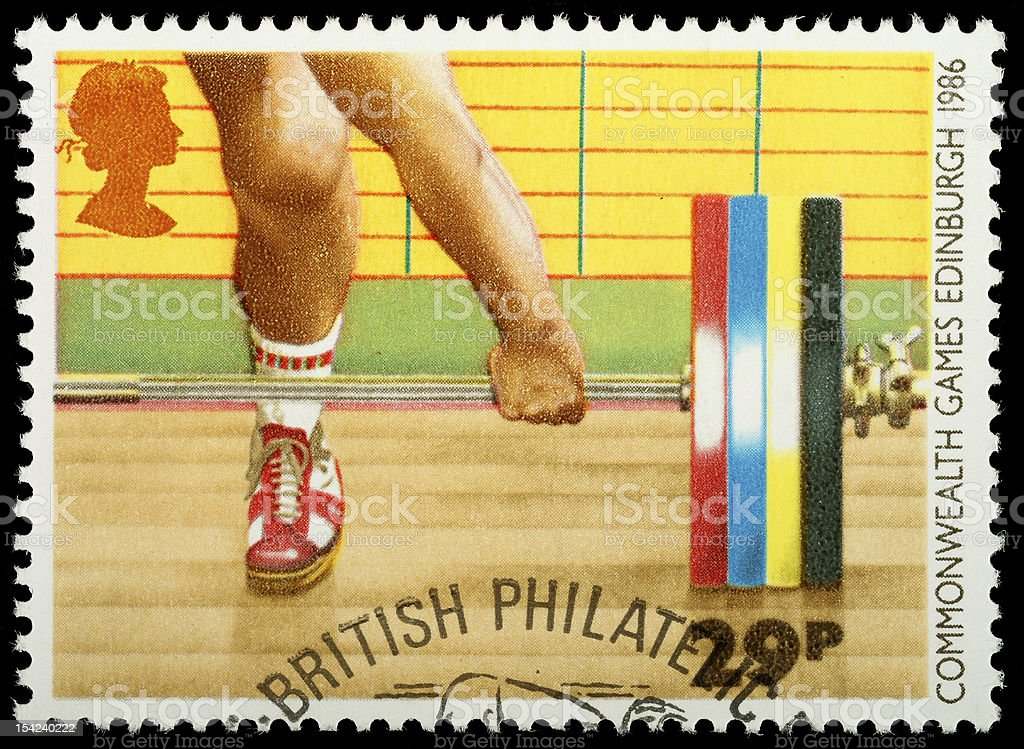 British Sporting Postage Stamp royalty-free stock photo