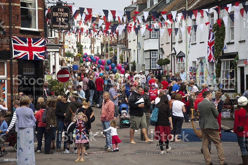 British Street Party royalty-free stock photo