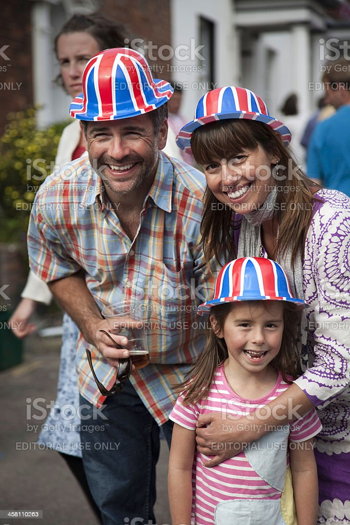 British Street Party royalty-free stock photo