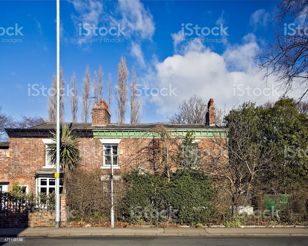 British Suburban Houses-Click for related images below royalty-free stock photo