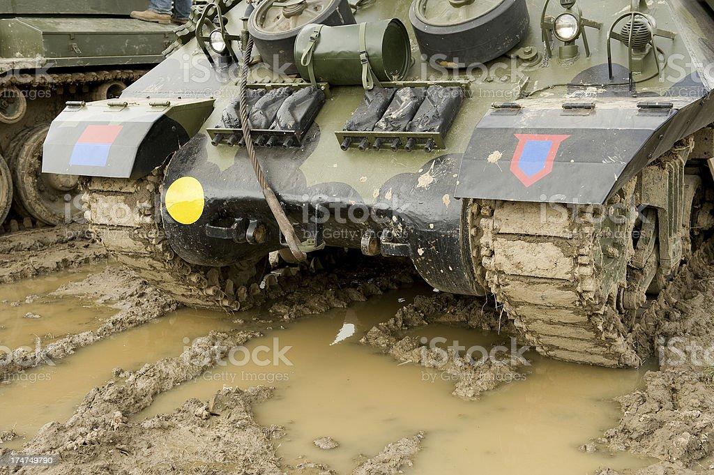 British Tank In Mud stock photo