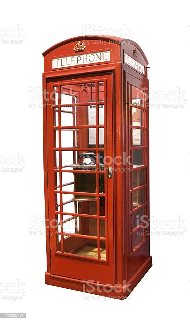 British telephone box stock photo