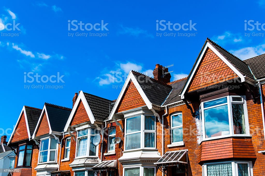 British Terraced Houses stock photo