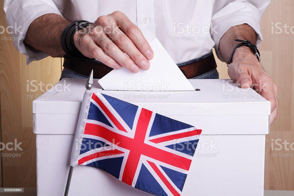 British to vote stock photo