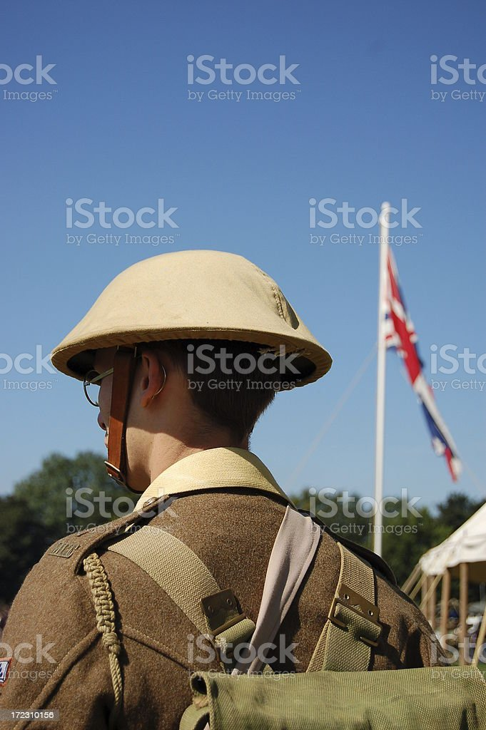 British Tommy. stock photo