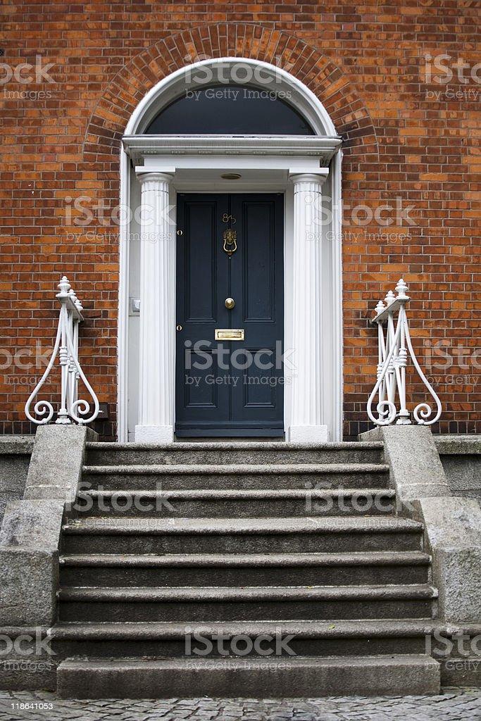 British traditional door stock photo