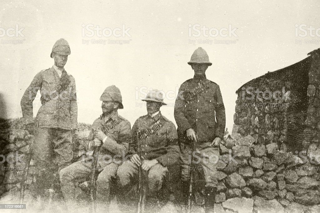 British troops stock photo