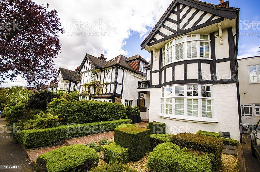 British Tudor houses in London stock photo