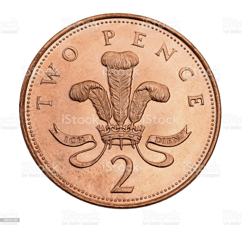 British two pence coin stock photo