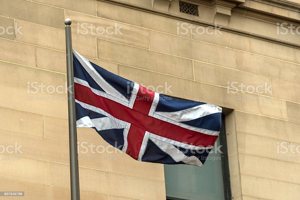 British Union Jack Flag 1606-1801 stock photo