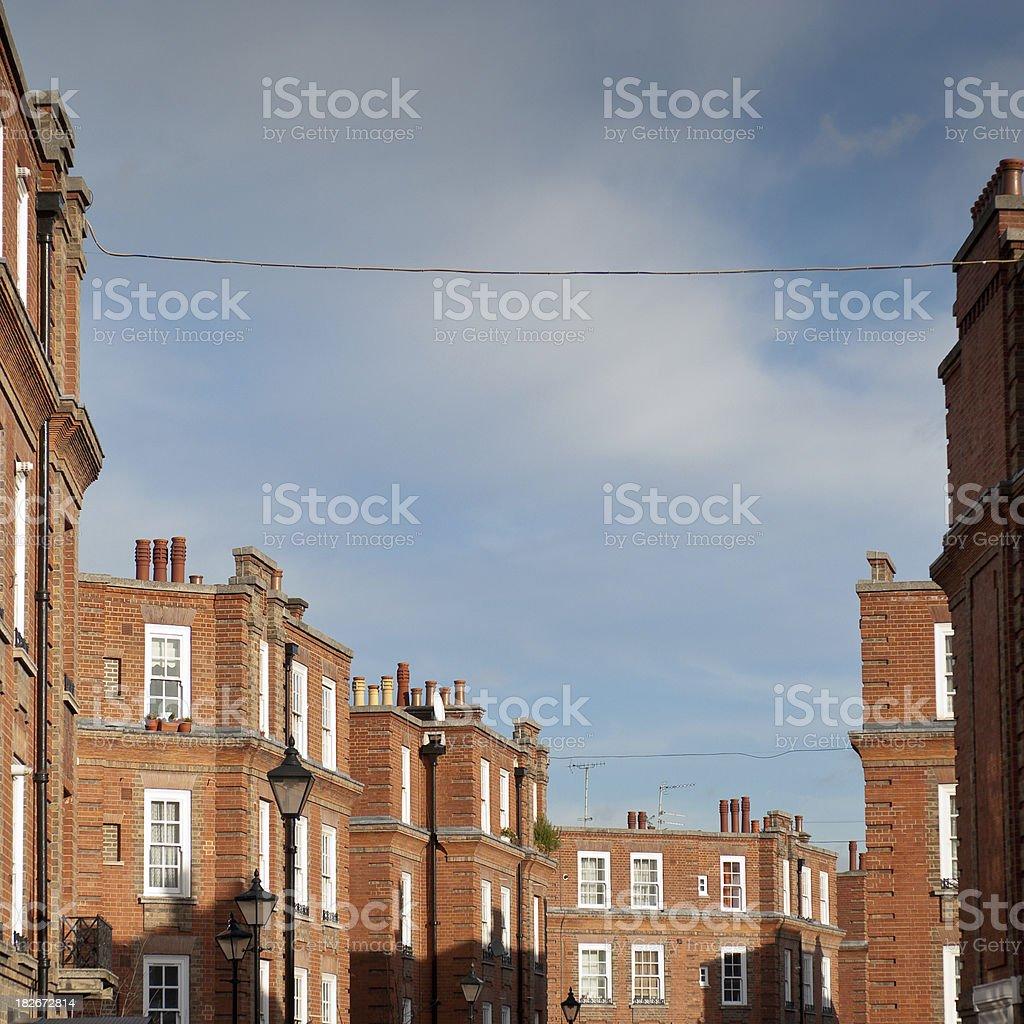 British Upper Class Apartments stock photo