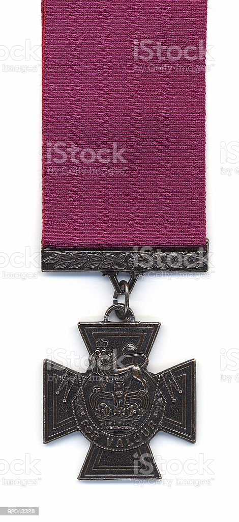British Victoria Cross - Crimson Ribbon stock photo