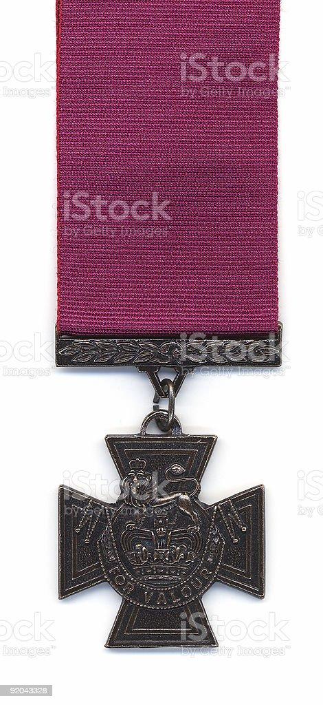 British Victoria Cross - Crimson Ribbon stock photo