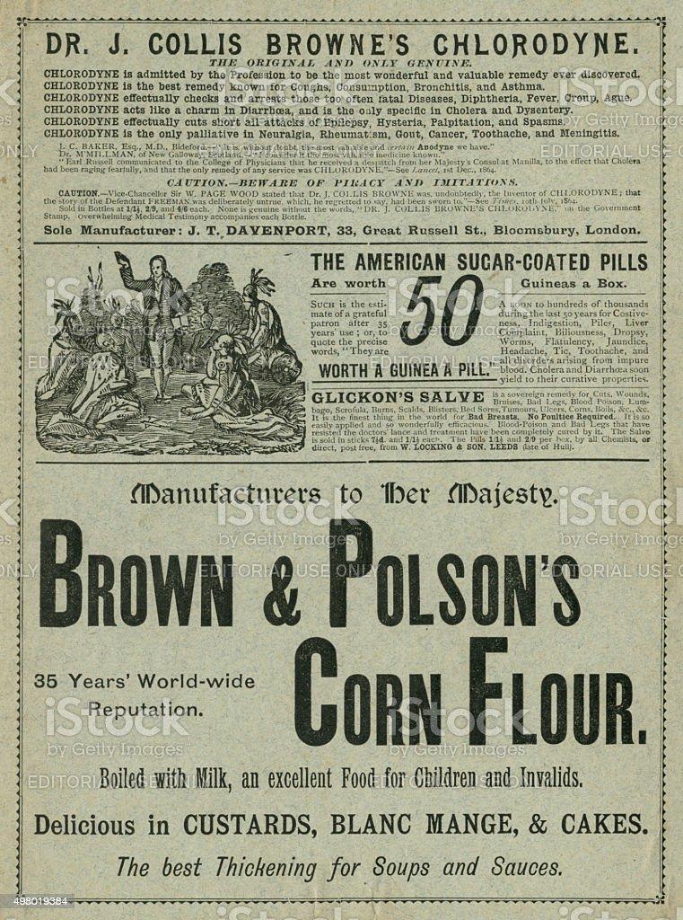British Victorian advertisements stock photo