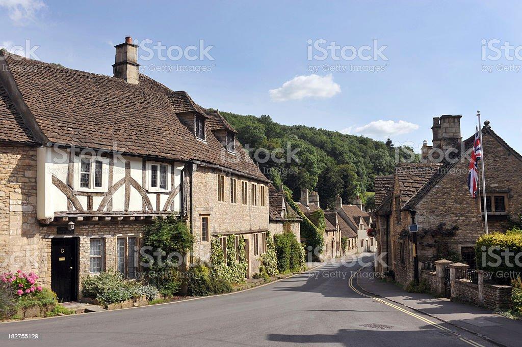 British Village stock photo