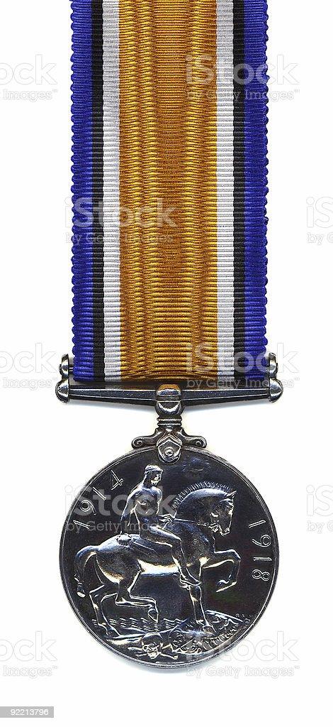 British War Medal, 1914 - 18 (Back) stock photo