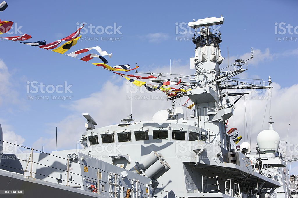 British War Ship stock photo