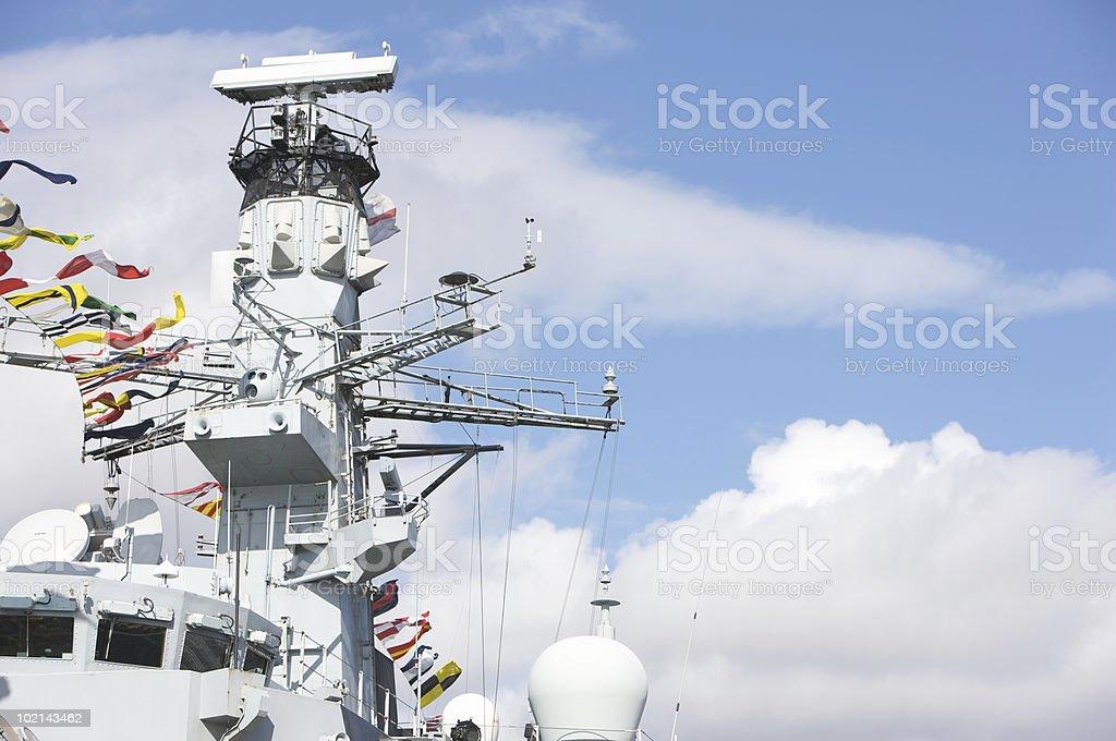 British War Ship royalty-free stock photo