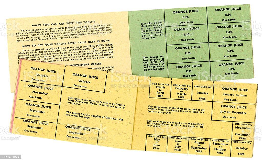 British welfare foods books 1950s-60s royalty-free stock photo