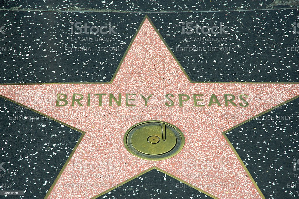 Britney Spears royalty-free stock photo