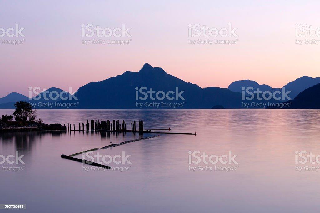 Brittania Beach Howe Sound Squamish British Columbia stock photo