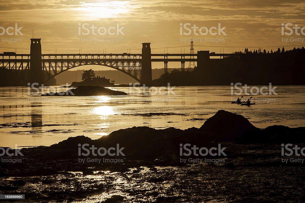 Brittania Bridge royalty-free stock photo