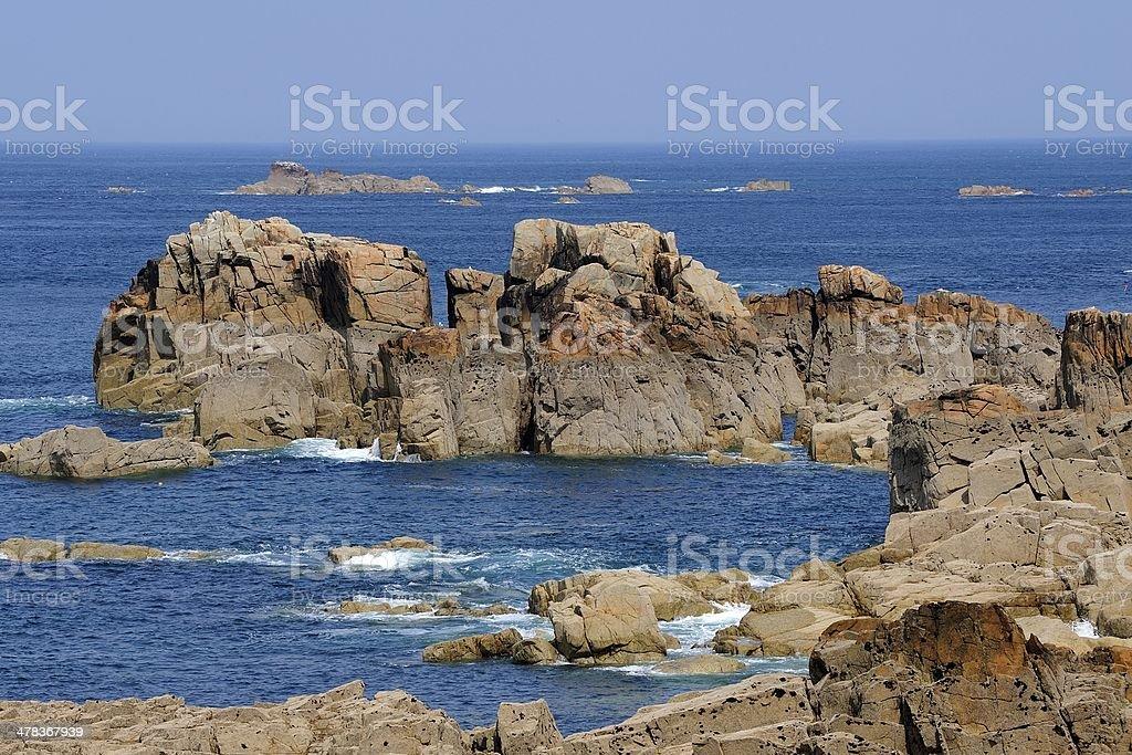 Brittany coast stock photo
