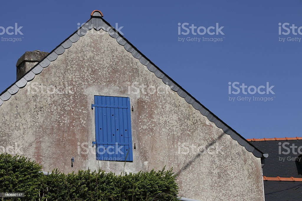 Brittany house stock photo