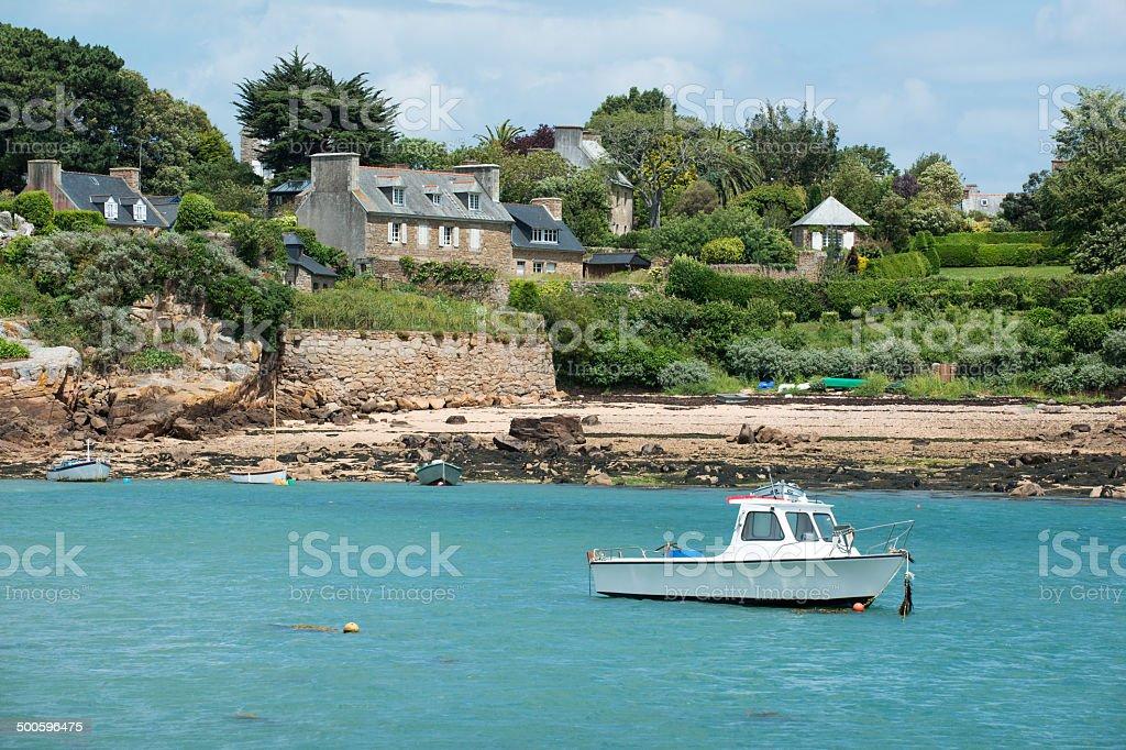 Brittany island stock photo