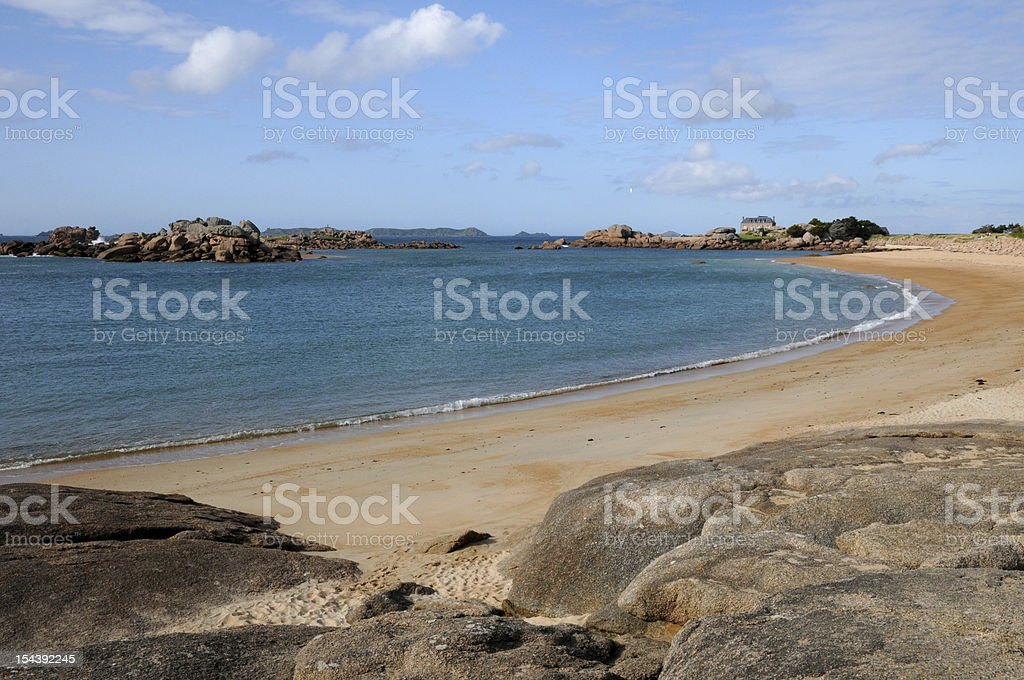 Brittany, la Greve de Toul Drez in Tregastel royalty-free stock photo