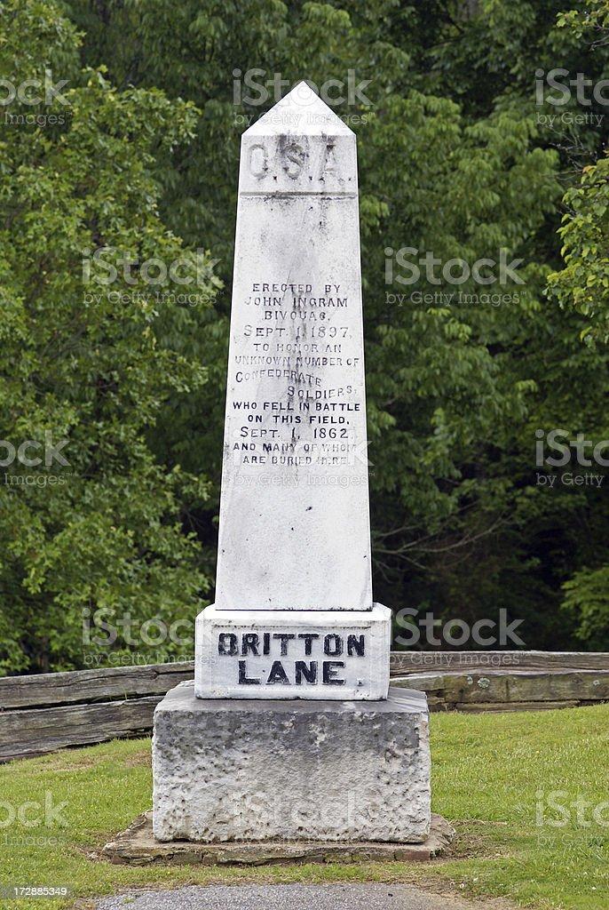 Britton Lane Monument stock photo