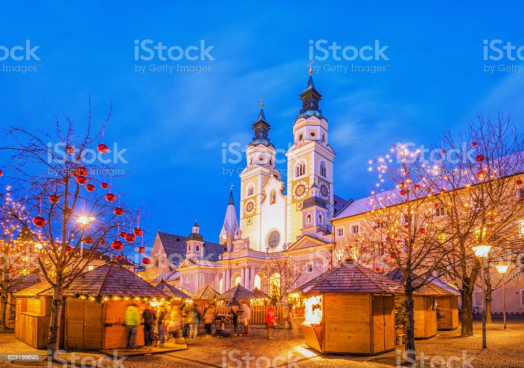 Brixen - Christmas Market in South Tyrol stock photo