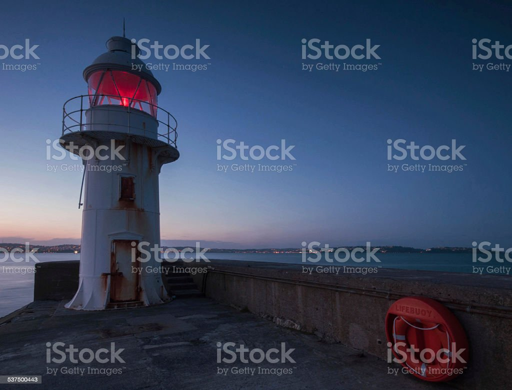 Brixham Breakwater Lighthouse stock photo