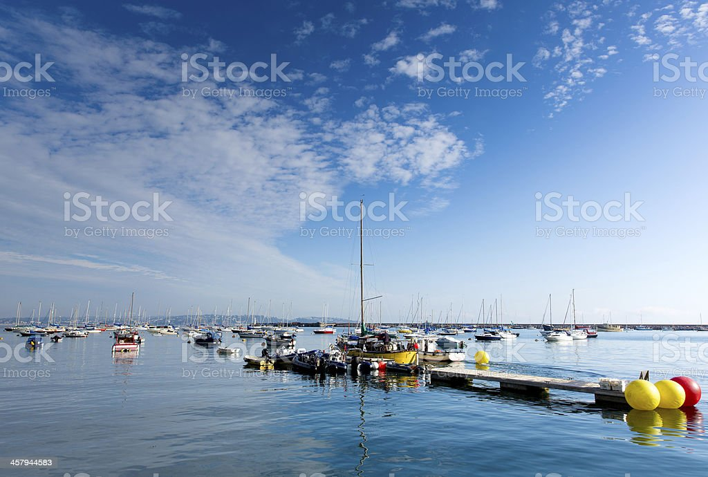 Brixham harbour and marina Devon England UK stock photo