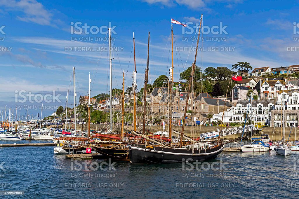 Brixham Harbour Devon stock photo