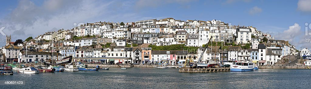 Brixham harbour, Devon stock photo