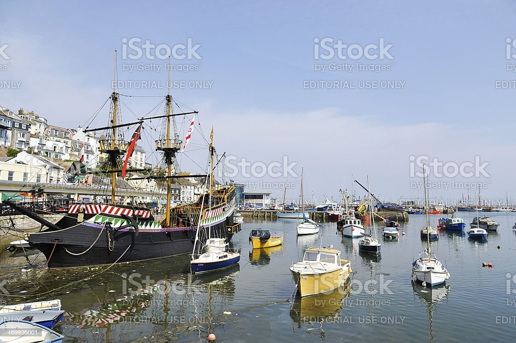 Brixham harbour in Devon, England, UK stock photo