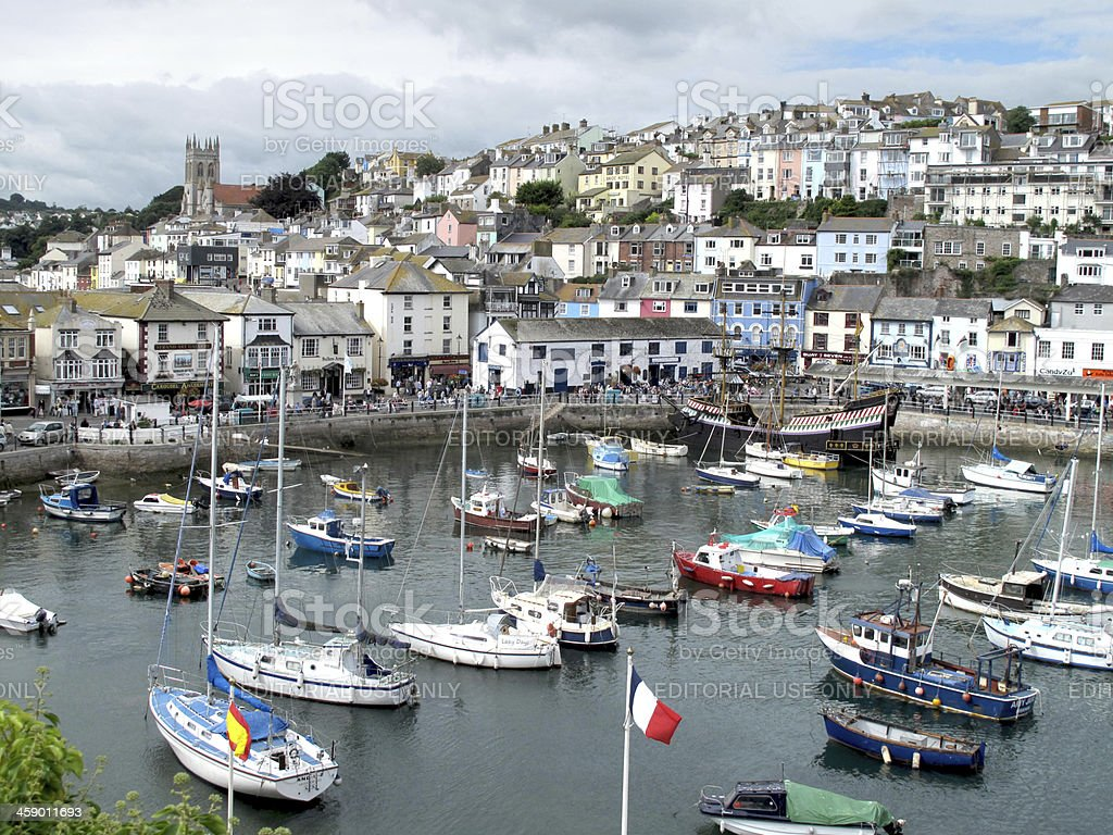 Brixham Harbour stock photo