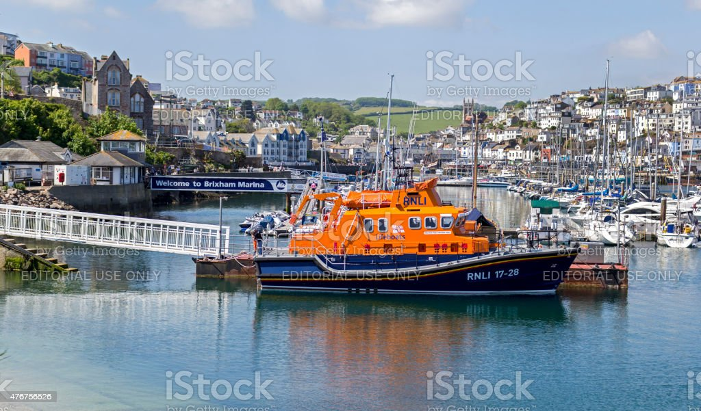 Brixham Lifeboat stock photo