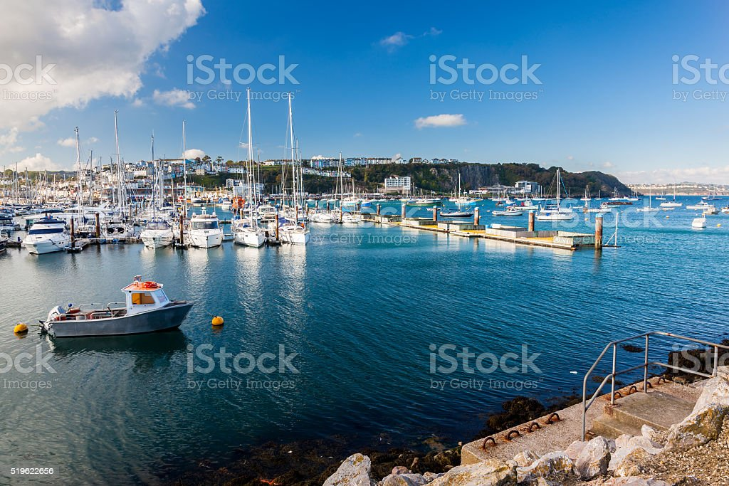 Brixham Marina Devon UK stock photo