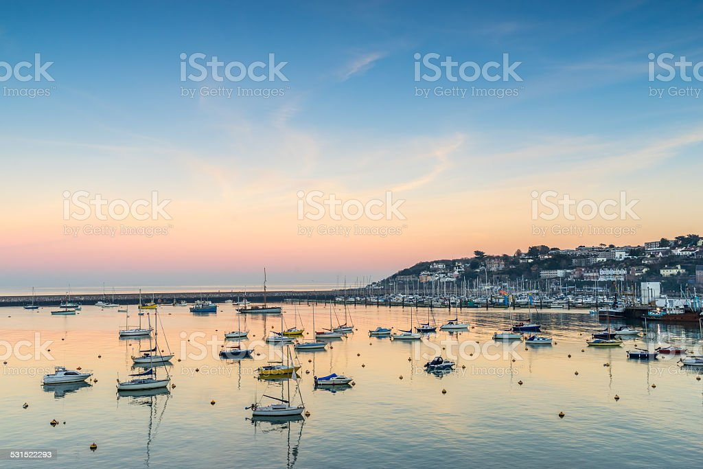 Brixham marina stock photo