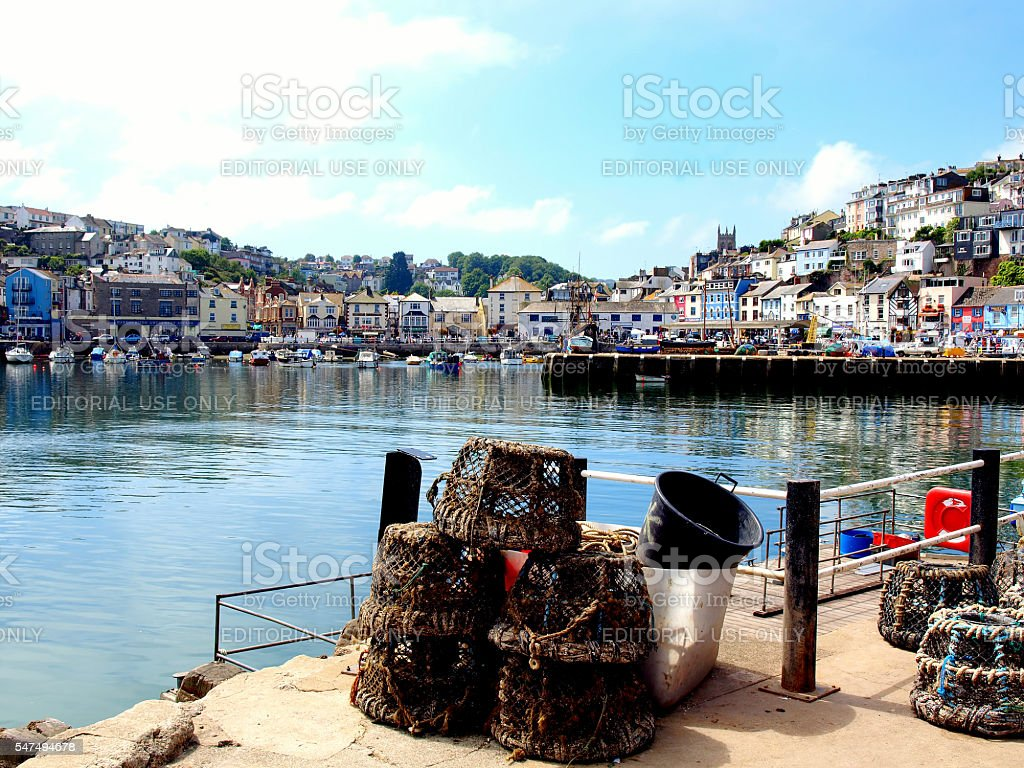 Brixham. stock photo