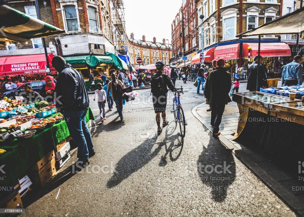 Brixton street market. stock photo