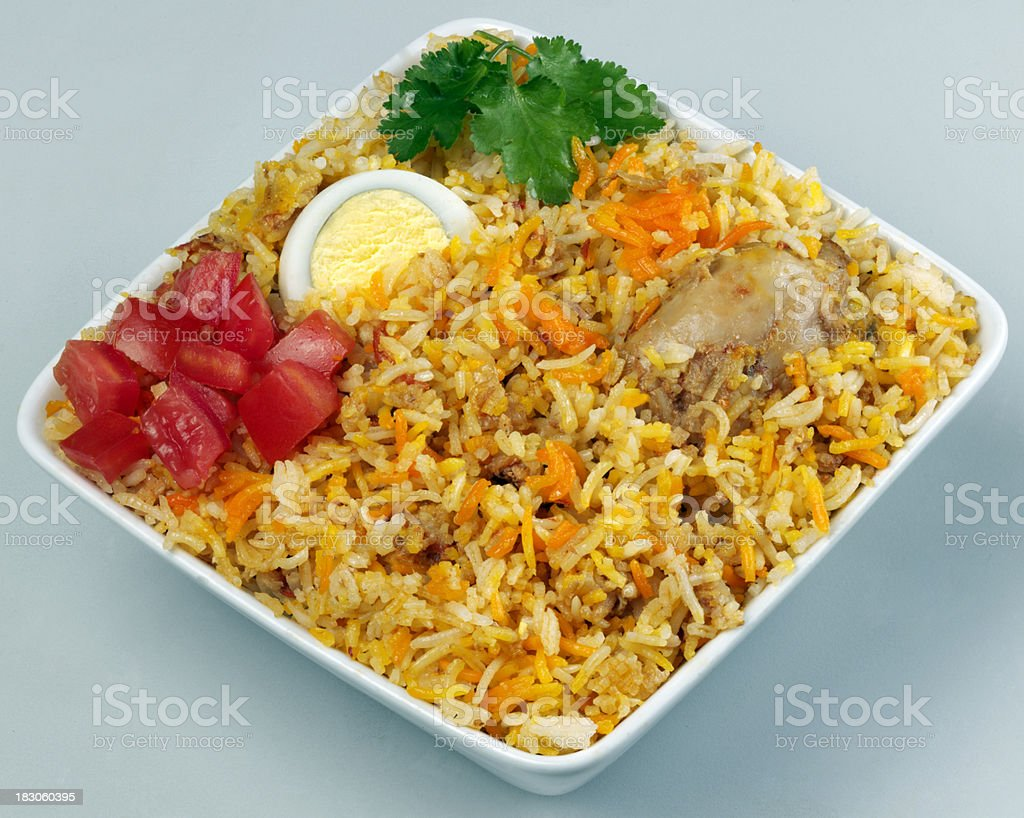 Briyani with Egg stock photo