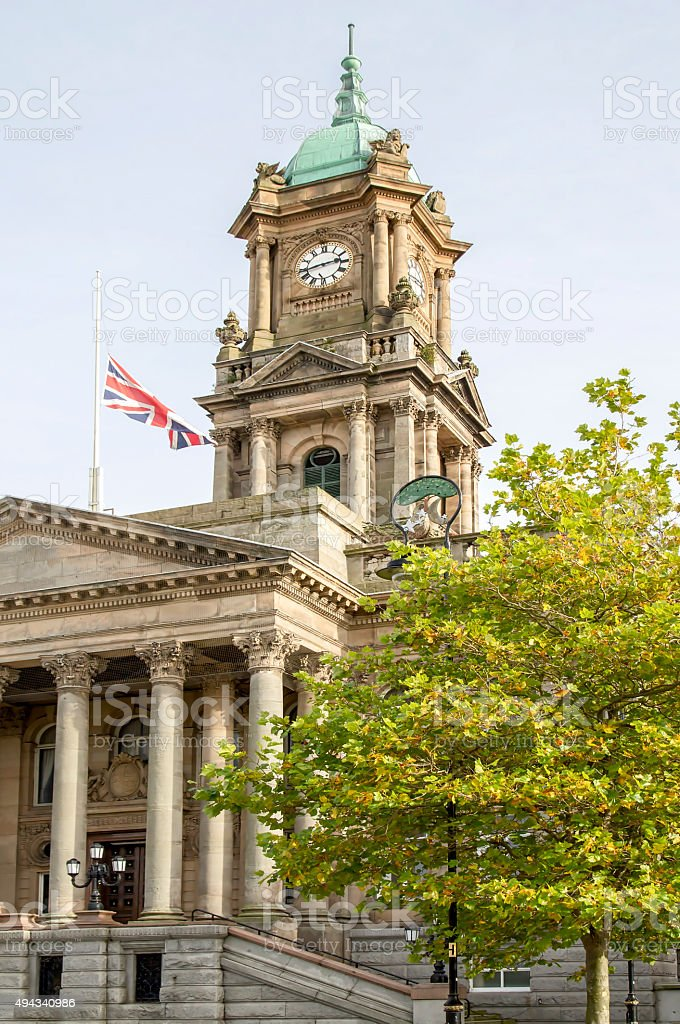 Brkenhead Town Hall stock photo