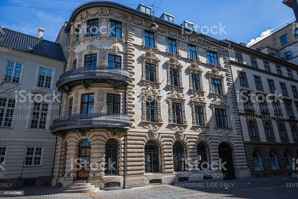 Brønnums House neighbour to the Royal Theater, Copenhagen, Denmark stock photo