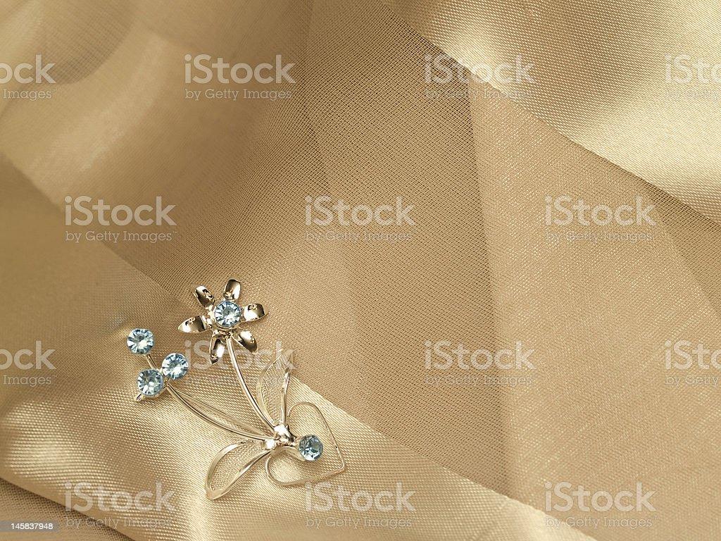 broach silk royalty-free stock photo