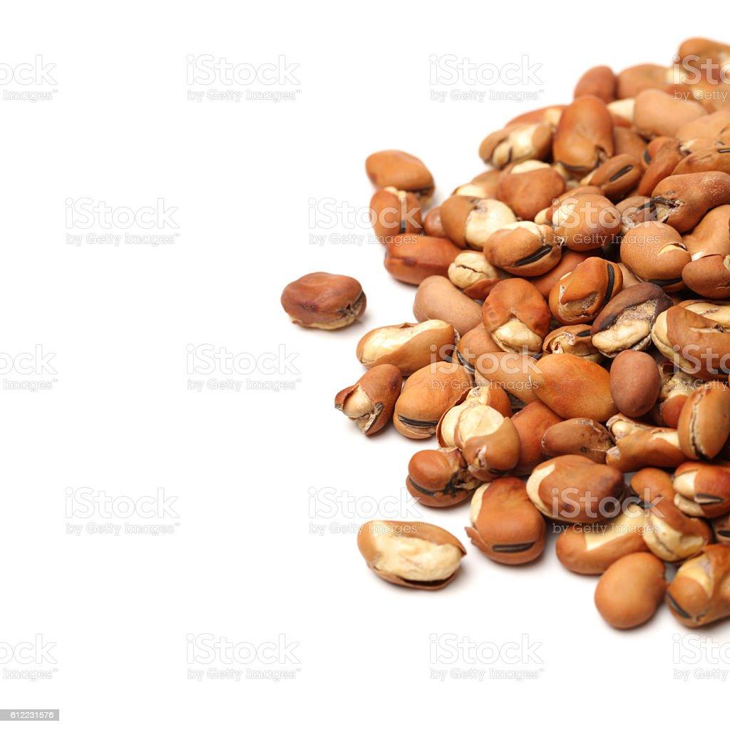 Broad bean, English Bean, European Bean, Field Bean. Fry (Vicia faba L.) stock photo