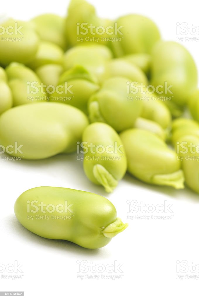 Broad Beans on a Slope stock photo