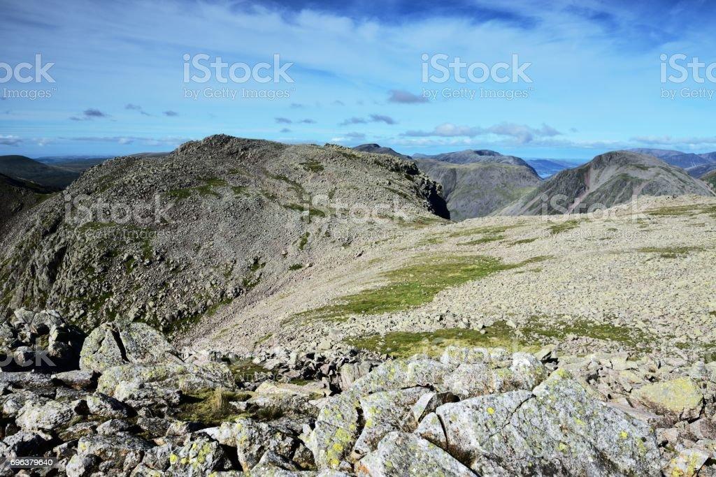 Broad Crag stock photo